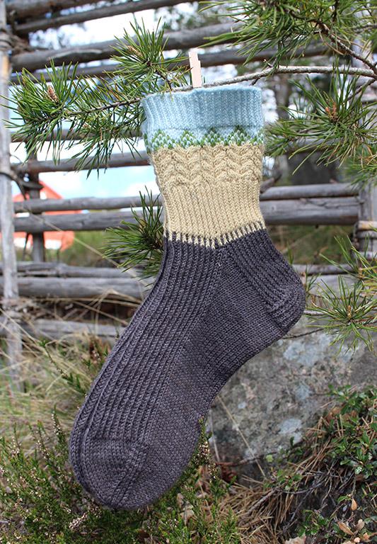 Stickad socka